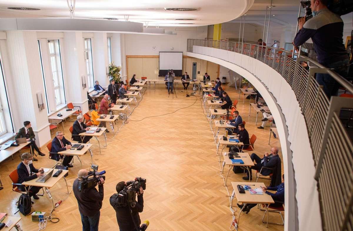 Die Beratung zum Rundfunkbeitrag wurde vertagt. Foto: dpa/Klaus-Dietmar Gabbert