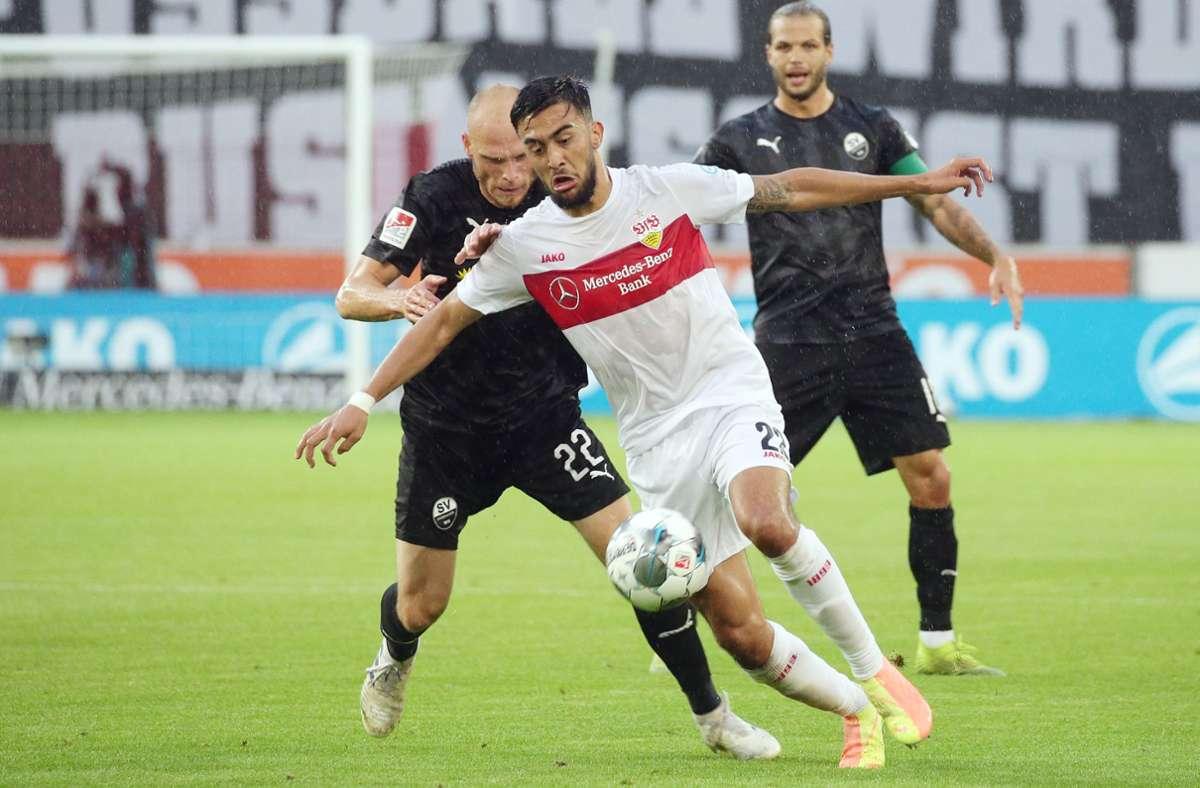 Nicolas Gonzalez ist unser Spieler des Spiels gegen den SV Sandhausen. Foto: Pressefoto Bauman/Hansjürgen Bri/Hansjürgen Britsch