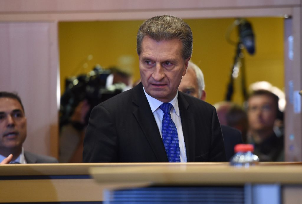 Auf die leichte Schulter hat Günther Oettinger die Anhörung nicht genommen. Foto: AFP