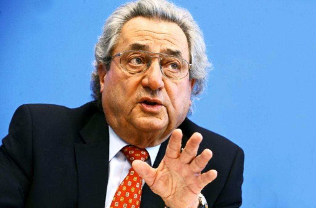 Baden-Württembergs Arbeitgeberpräsident Dieter Hundt sorgt sich um die anti-europäischen Kräfte, die bei der Europawahl deutlich zulegen konnten. Foto: dpa