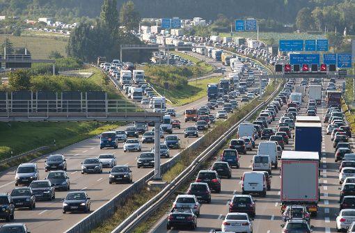 Zum Feiertag Staugefahr auf Autobahnen
