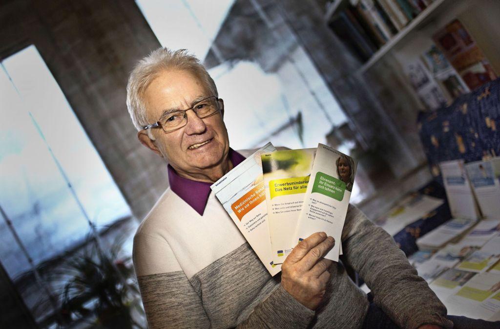 Beratung in der Nachbarschaft nennt die Deutsche Rentenversicherung den kurzen Weg zu ehrenamtlichen Rentenberatern wie Edgar Büchner. Foto: Ines Rudel