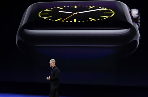 Tim Cook präsentiert die Apple Watch