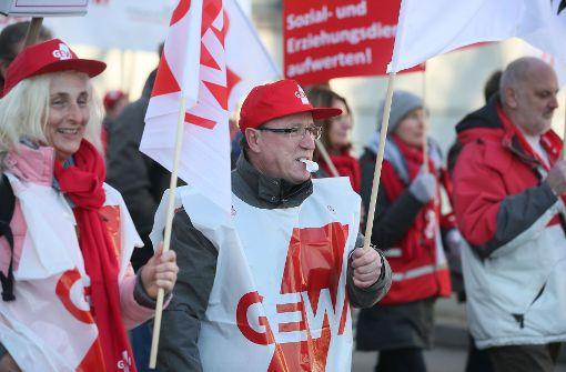 In den vergangenen Wochen riefen die Gewerkschaften zu deutschlandweiten Warnstreiks im öffentlichen Dienst auf. Foto: dpa-Zentralbild