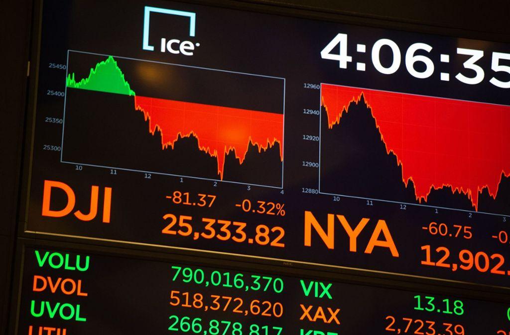 Apple-Aktien werden an der Wall Street gehandelt. Foto: AFP