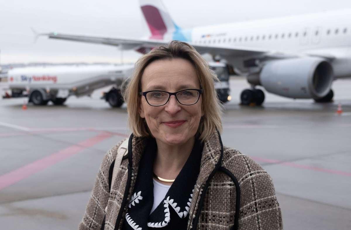 Acht Monate  vor dem turnusmäßigen Auslaufen ihres Fünf-Jahres-Vertrags wird Arina Freitag zum Jahresende am Flughafen  aufhören. Foto: Lichtgut