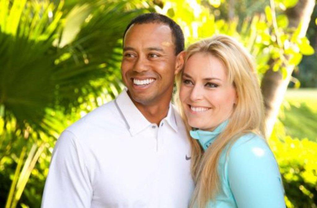 Es war ein offenes Geheimnis: Tiger Woods und Lindsey Vonn sind ein Paar - nun auch ganz offiziell. Foto: dpa/Handout Courtesy Woods/Vonn
