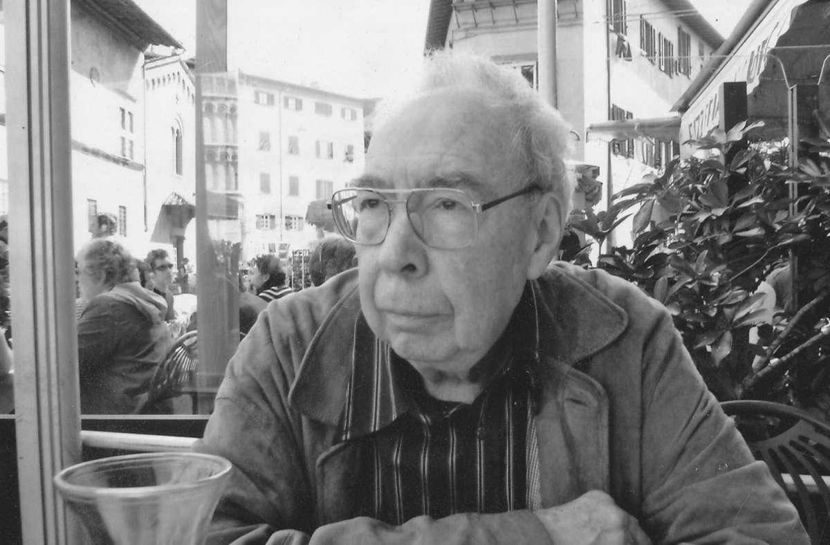 Volker Klotz wird neunzig Jahre alt. Foto: privat/privat