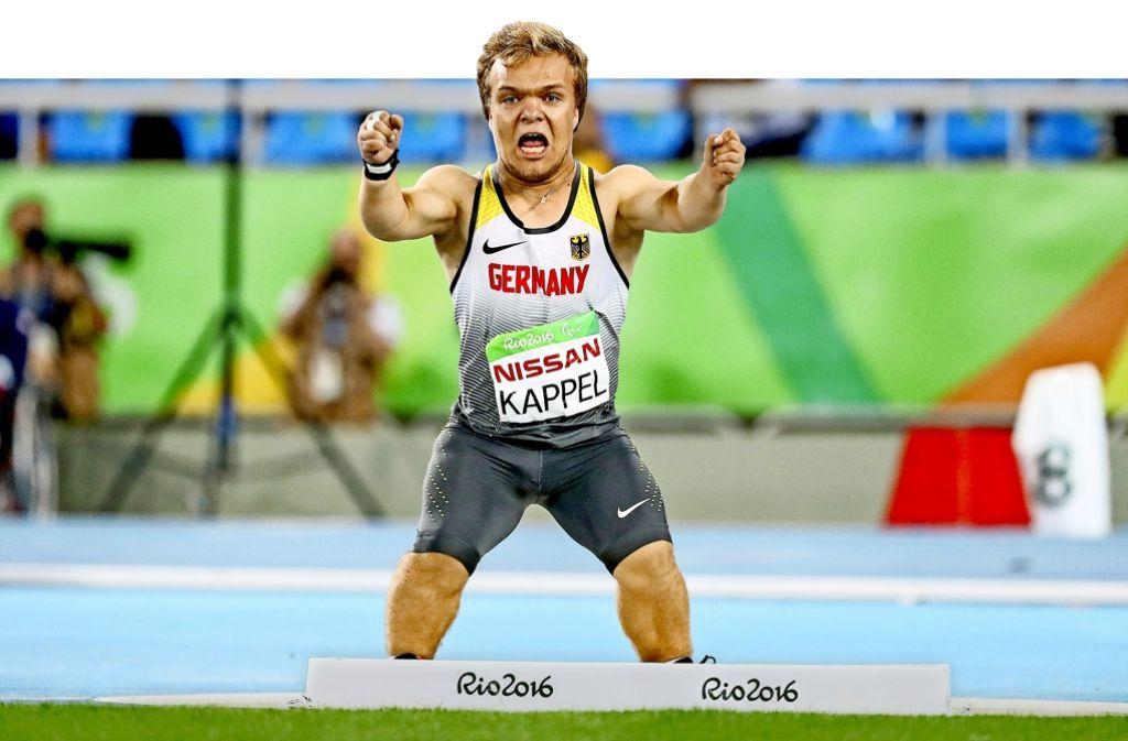Hat sensationell die Goldemedaille gewonnen: Der Welzheimer Kugelstoßer Niko Kappel Foto: dpa