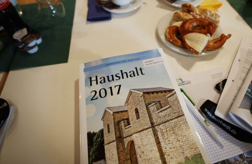 813 Seiten umfasst das Zahlenwerk des Kreises für das kommende Jahr. Foto: Gottfried Stoppel