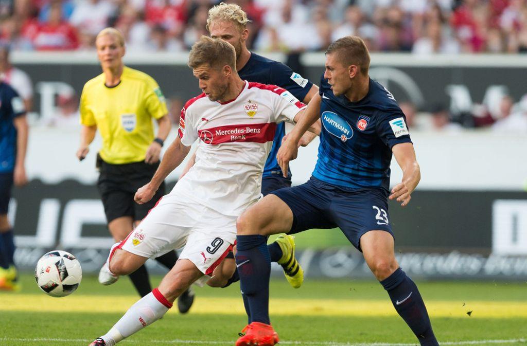 Vor drei Jahren hat der VfB Stuttgart sein Heimspiel gegen den 1. FC Heidenheim 1:2 verloren. Foto: dpa