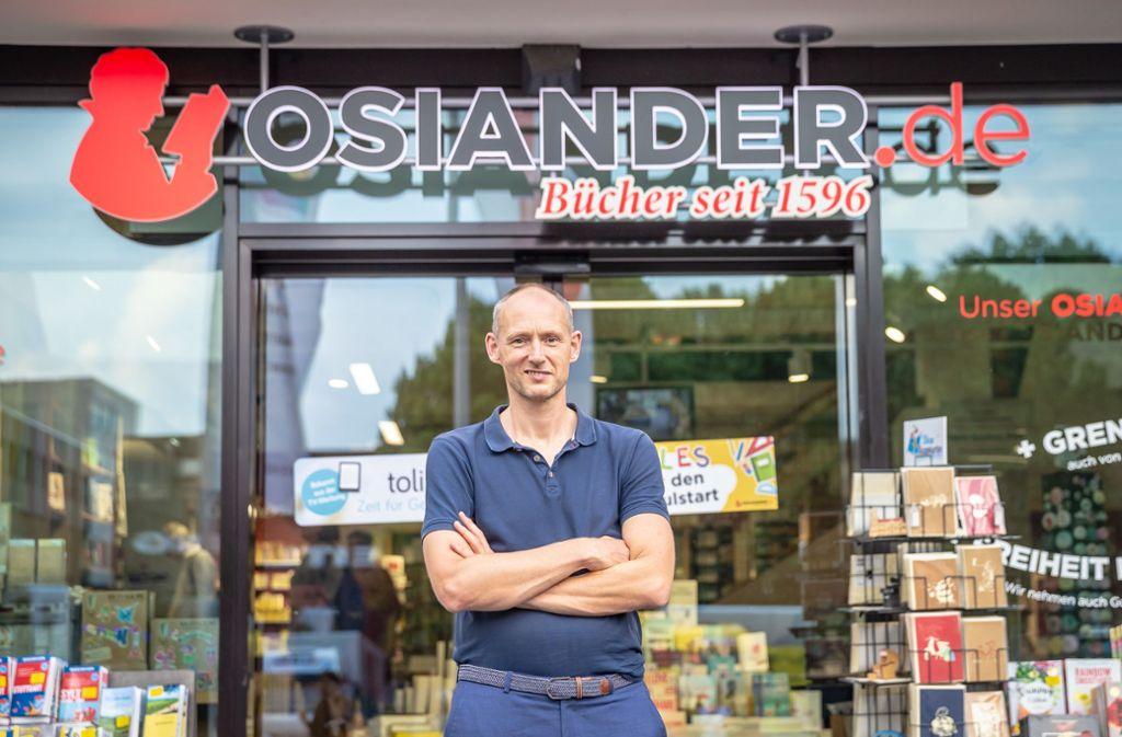 Mittlerweile ist auch Osiander in Stuttgart wegen der Corona-Krise geschlossen: Co-Chef Christian Riethmüller fordert die Verbraucher auf, den regionalen Einzelhandel in Krisenzeiten zu unterstützen. Foto: Lichtgut/Julian Rettig