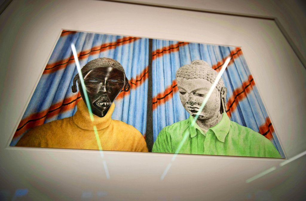 Werk ohne  Titel – die Künstlerin will dem Betrachter nichts vorgeben. Foto: Gottfried Stoppel