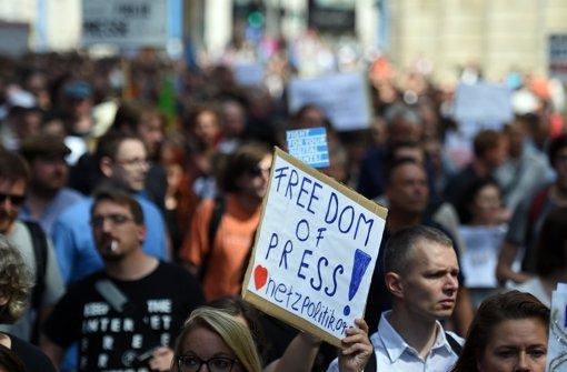 1300 demonstrieren für Pressefreiheit