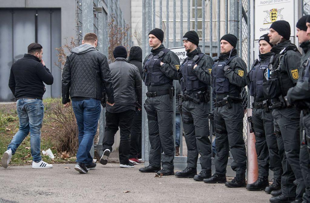 In Stammhein sind viele Polizisten vor Ort. Foto: dpa