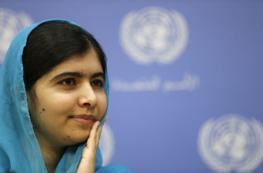 Malala Yousafzai hat Vorbildcharakter, weil sie sich für die schulische Bildung von Mädchen einsetzt und sich auch von den Taliban nicht einschüchtern lässt, nicht einmal durch einen Anschlag. Die 18-Jährige hat bereits den Friedensnobelpreis erhalten. Foto: EPA