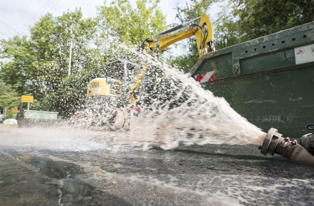 Kürzlich hatte es in der Augsburger Straße einen größeren Wasserrohrbruch gegeben. Foto: 7aktuell.de/Oskar Eyb