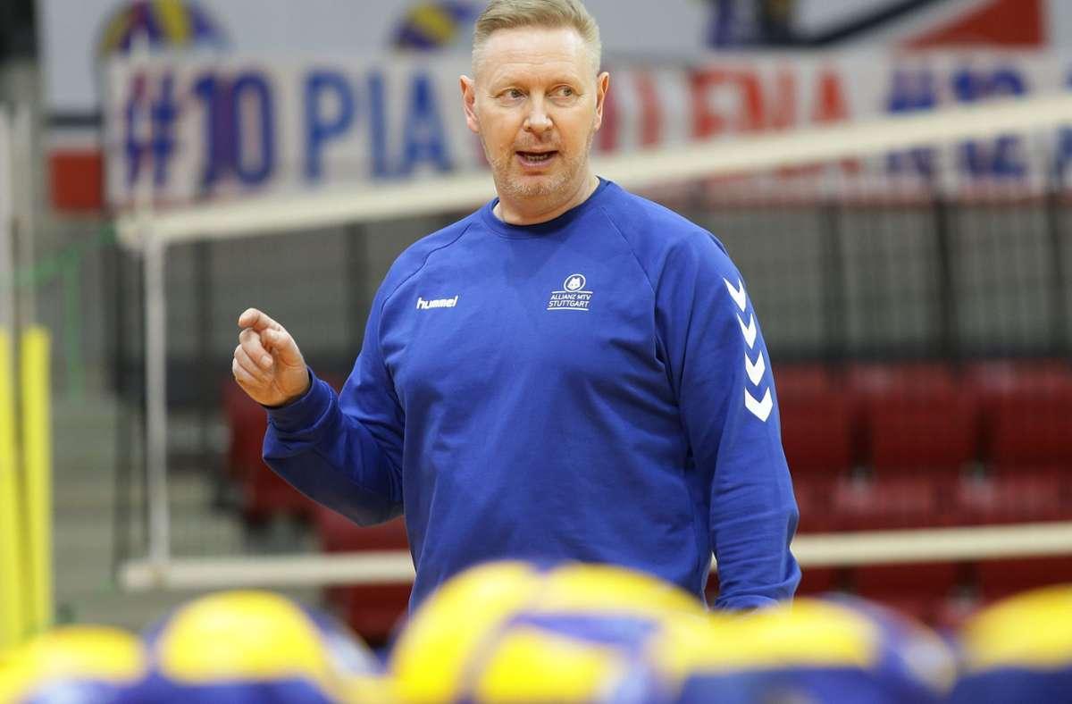Nicht rundum zufrieden: Tore Aleksandersen, Coach von Allianz MTV Stuttgart. Foto: Baumann