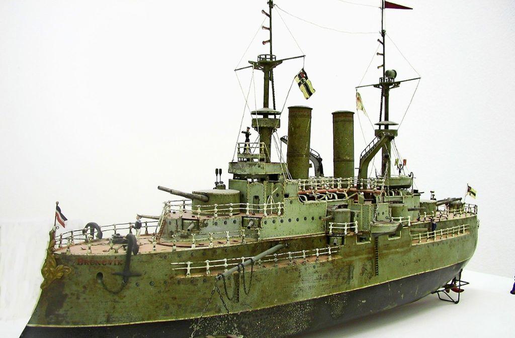 """Die """"Brunsvic"""" ist mit 1,20 Meter das größte Modellschiff, das Märklin je gebaut hat. Foto: privat"""