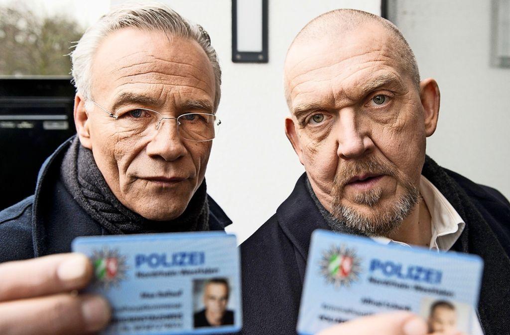 """Die Kölner Ermittler Max Ballauf (Klaus J. Behrendt) und Freddy Schenk (Dietmar Bär) in """"Durchgedreht"""" Foto: WDR"""