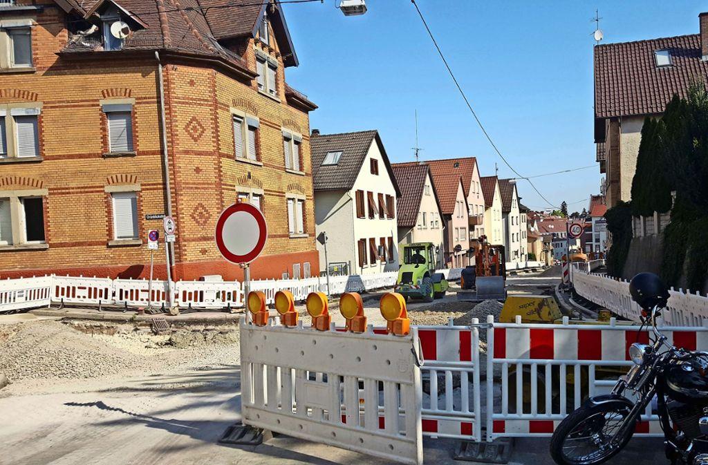 In der Neue Straße wird noch einige Tage lang gebaut. Foto: Caroline Friedmann