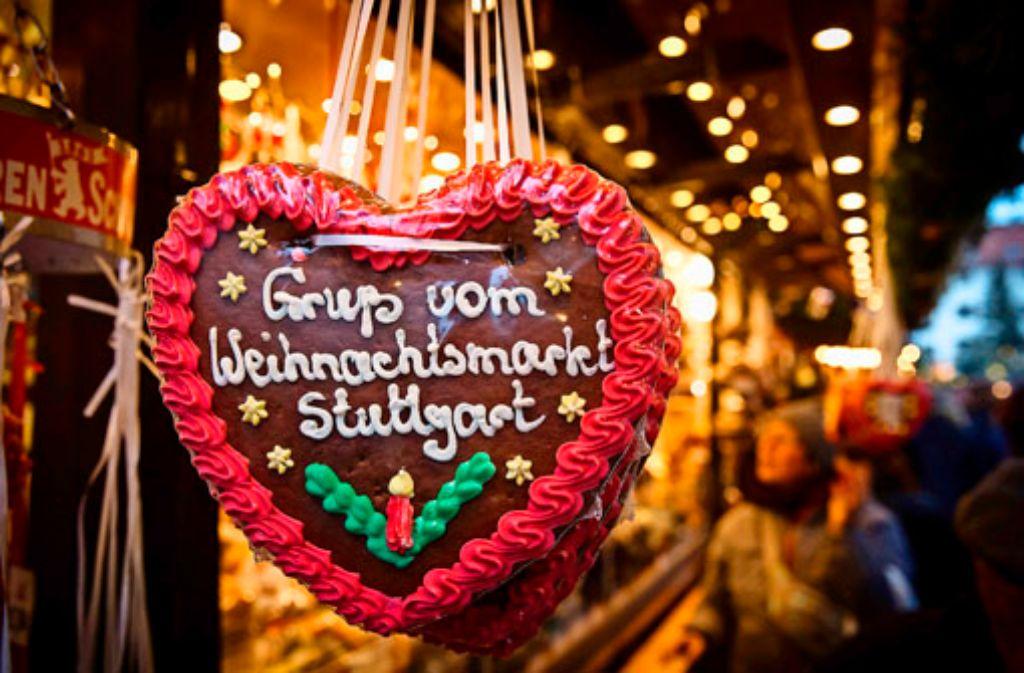Ein Herz für Stuttgart haben Touristen aus dem In- und Ausland. Foto: Lg/Achim Zweygarth
