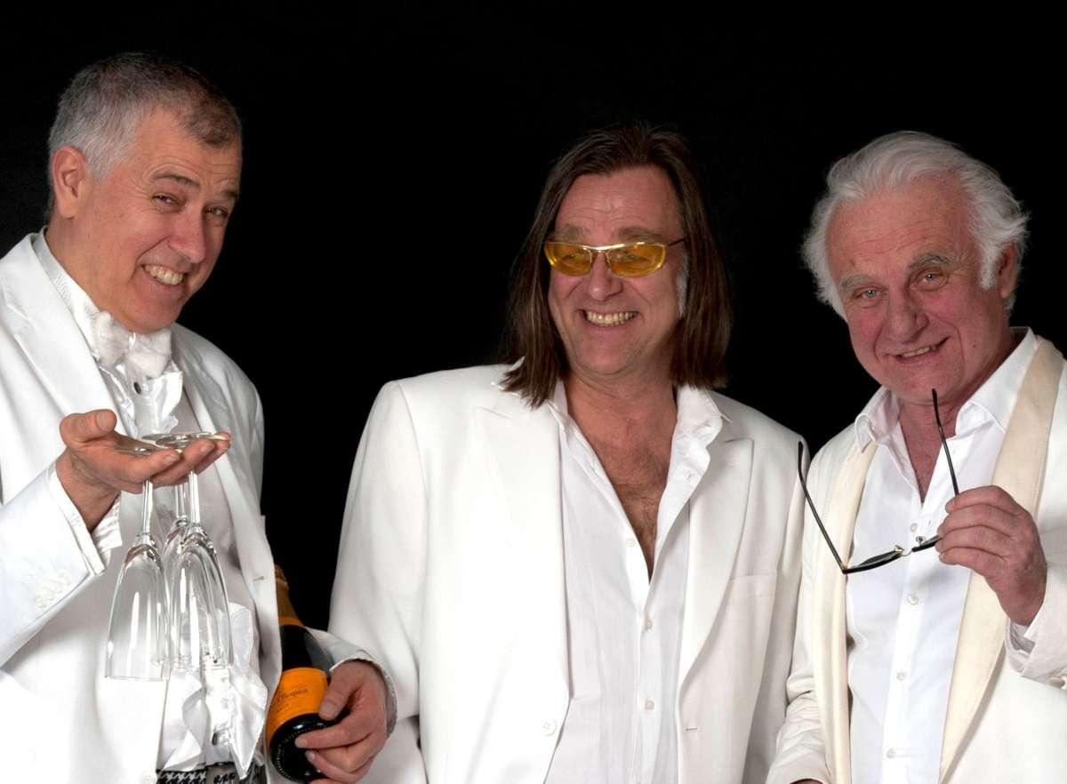 So sympathisch kann der KGB sein (von links): Otto Kuhnle, Michael Gaedt und Roland Baisch.  Foto: Anni Jurcec