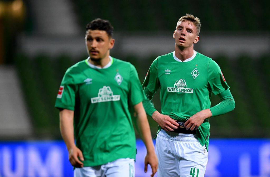 Enttäusche Werder-Profis Foto: Stuart Franklin/Getty-Pool/dpa/Stuart Franklin