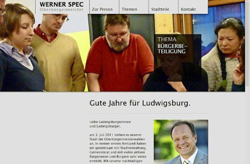 Amtsinhaber wirbt mit alter Homepage