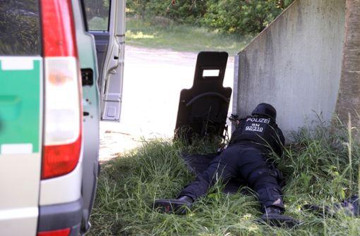 Bundeswehrsoldat verschanzt sich und schießt auf Polizei