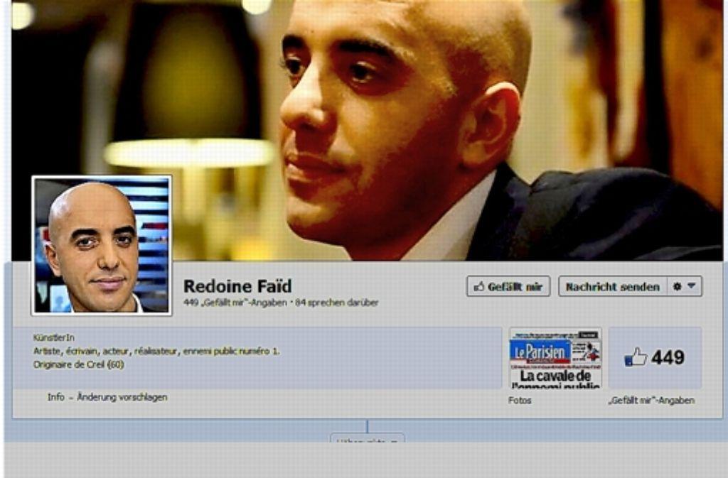 Gangsterboss mit Facebook-Fanseite: Redoine Faïd Foto: StZ-Screenshot