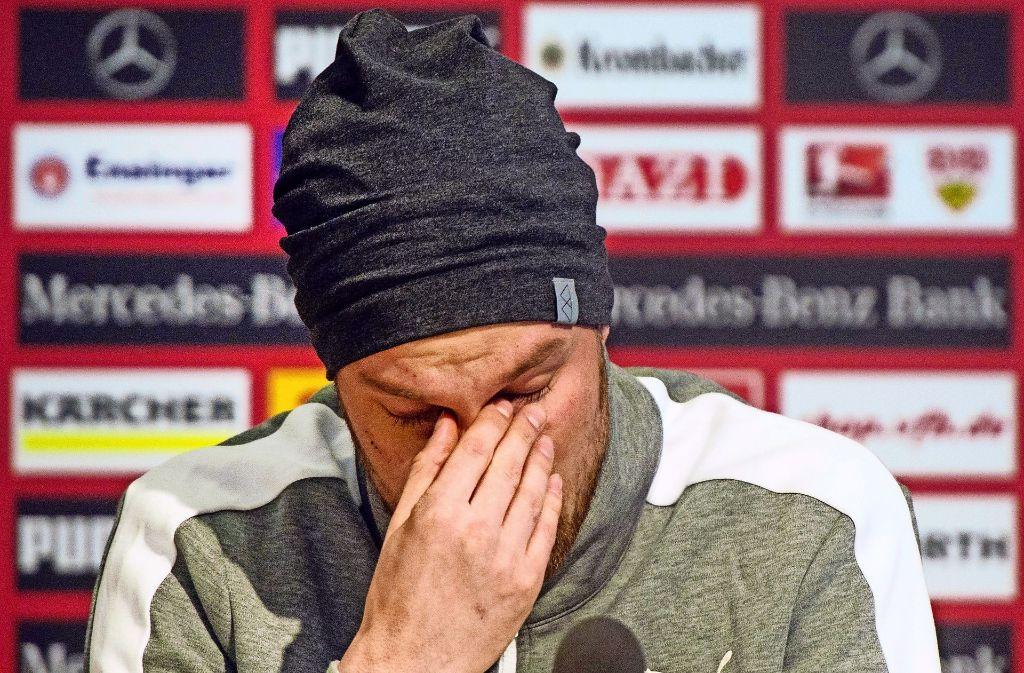 Trauriger Abgang: Kevin Großkreutz wird nicht mehr das Trikot des VfB Stuttgart tragen. Er verlässt den Club. Foto: dpa