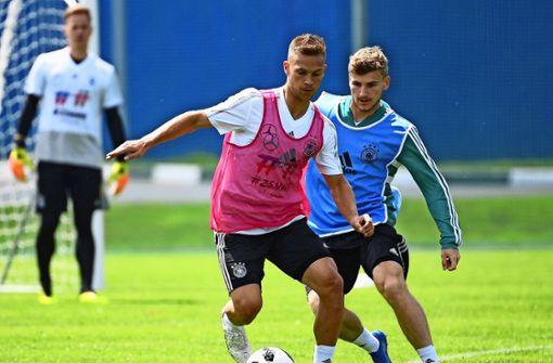Joshua Kimmich und Timo Werner – bald vereint beim FC Bayern?