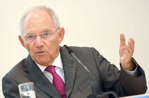Schäuble stellt sich gegen Forderungen von SPD und Opposition