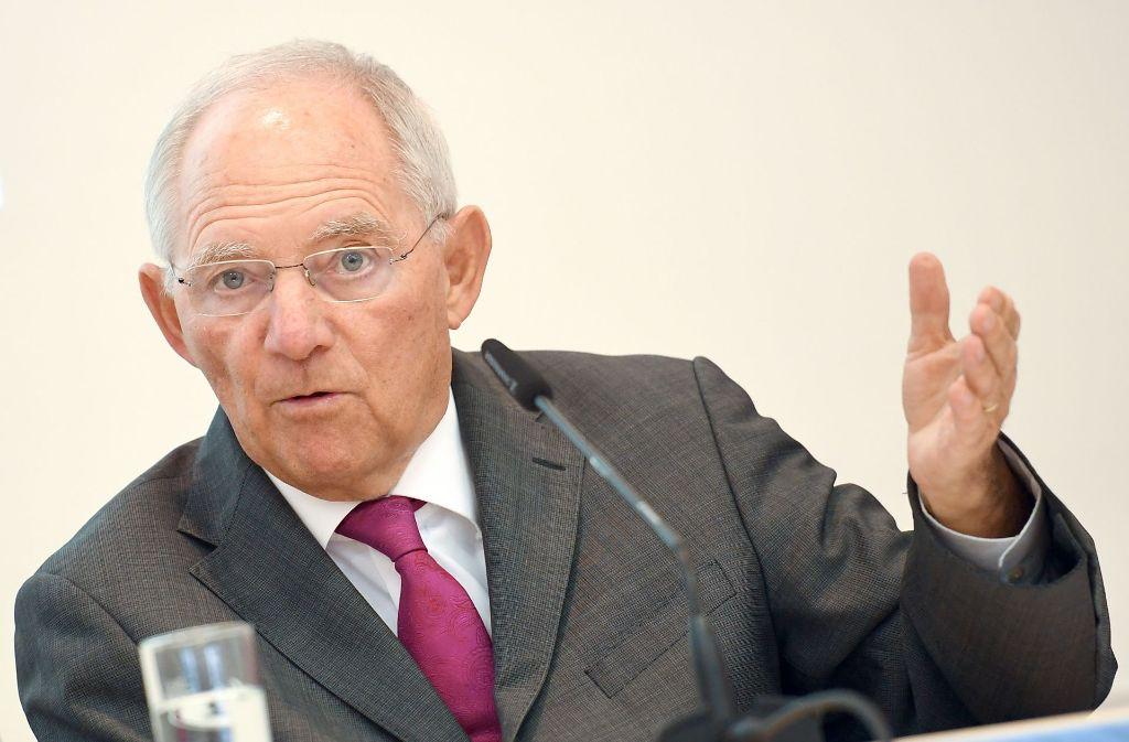 Bundesfinanzminister Wolfgang Schäuble Foto: dpa-Zentralbild