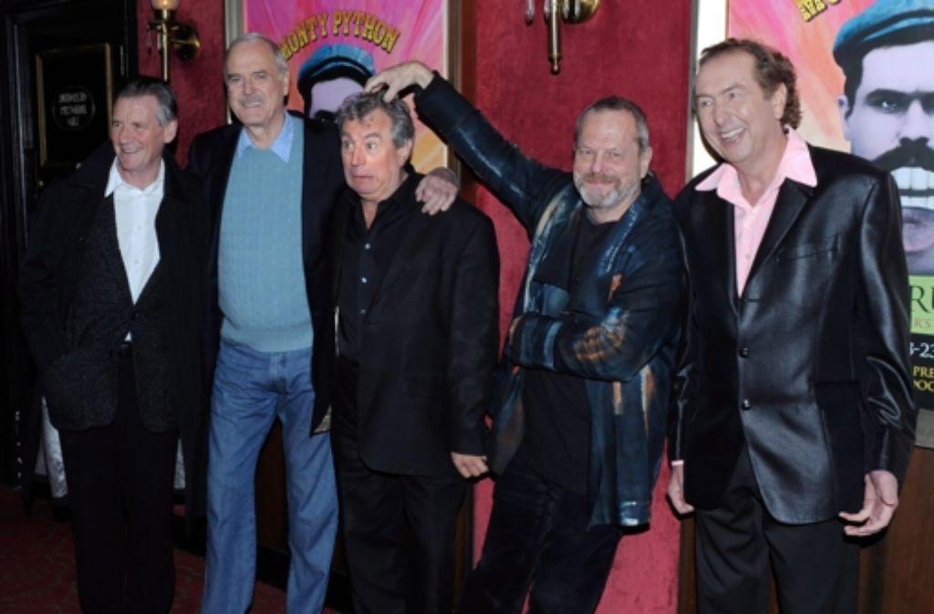 Etwas grauer, aber noch immer brilliant: Michael Palin, John Cleese, Terry Jones, Terry Gilliam and Eric Idle von Monty Python. Foto: EPA FILE