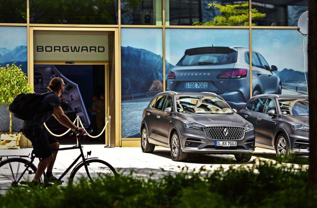 Borgward präsentiert  in Stuttgart in bester Innenstadtlage sein neuestes Modell. Foto: Lichtgut/Max Kovalenko