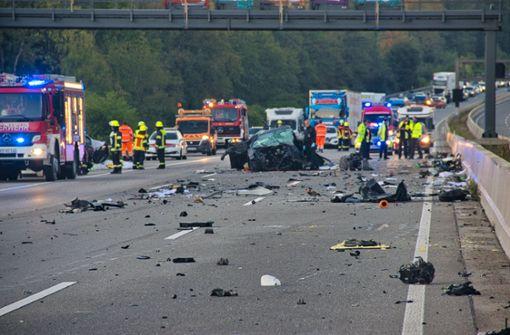 Vier Tote bei verheerendem Unfall  - Falschfahrer Ursache?