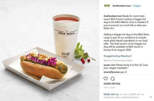 Möbelhaus führt vegetarischen Hot Dog ein