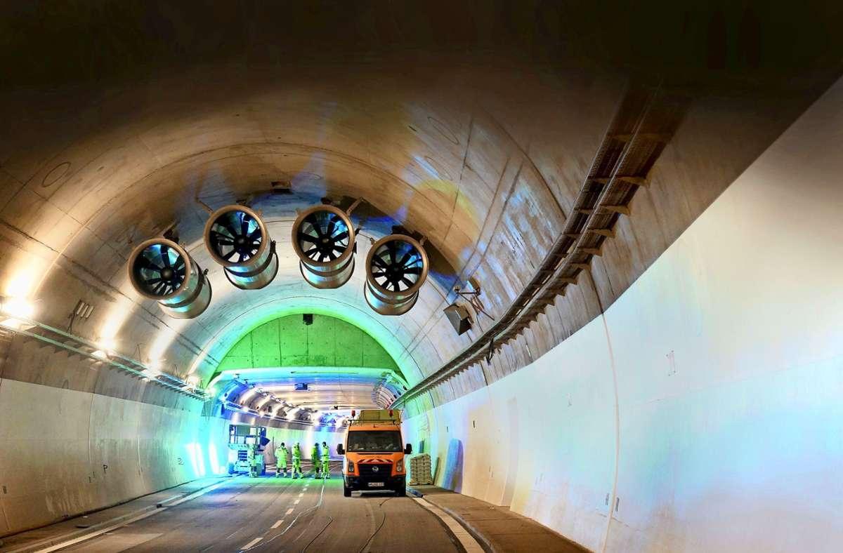 Teure Tunnel:  Die Kosten für das Gesamtprojekt Rosensteintunnel steigen auf  416 Millionen Euro. Foto: Andreas Rosar