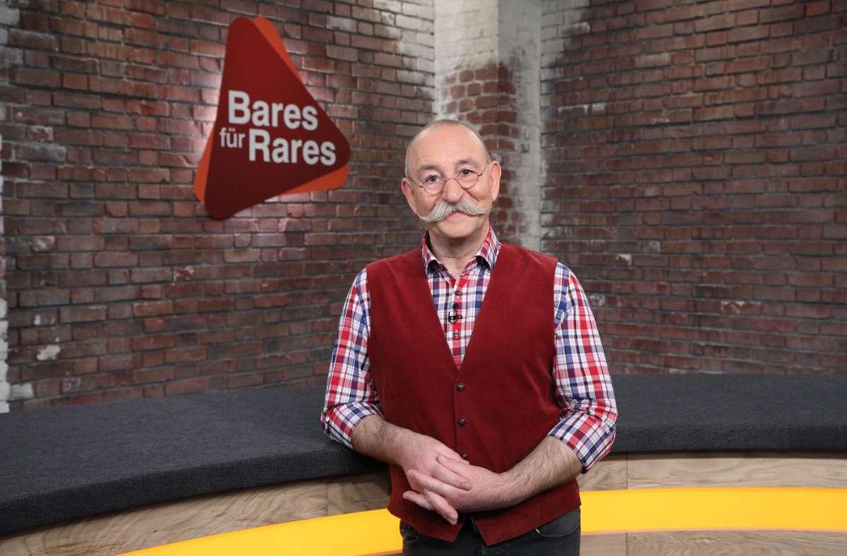 """Horst Lichter führt durch die Sendung """"Bares für Rares"""". (Archivbild) Foto: ZDF /Frank W. Hempel"""