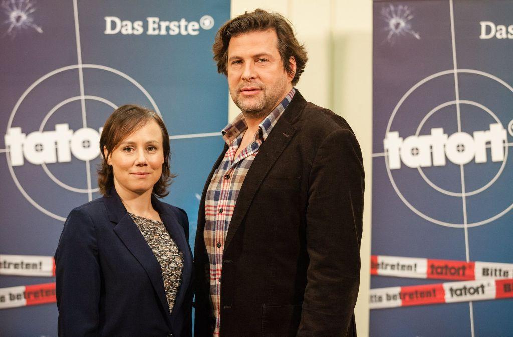 """Das neue Team des """"Tatort-Schwarzwald"""", bestehend aus Eva Löbau als Kommissarin Franziska Tobler und Hans-Jochen Wagner als Kommissar Friedemann Berg. Foto: dpa"""