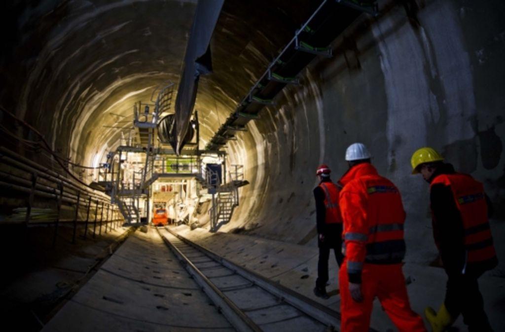 Arbeiten im Fildertunnel, der viele Stadtbezirke tangiert Foto: Lichtgut/Max Kovalenko