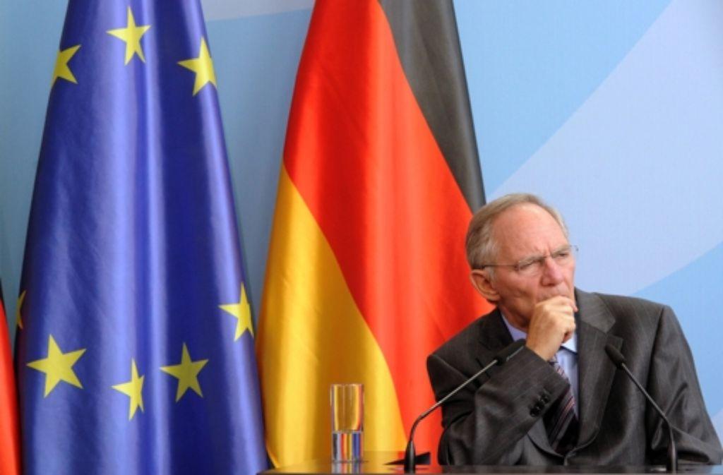 Bundesfinanzminister Wolfgang Schäuble Foto: dpa