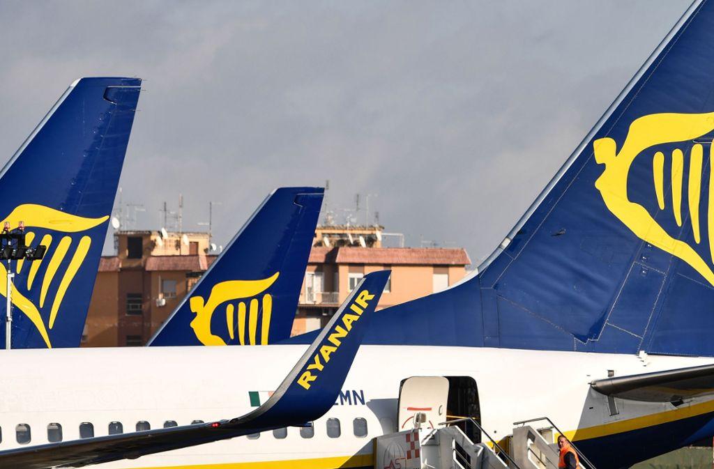 Ryanair wird bis zum 8. April nicht nach Italien fliegen. Foto: AFP/ALBERTO PIZZOLI