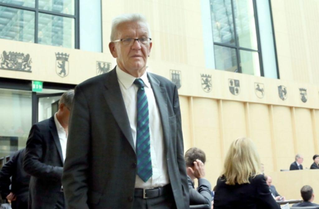 Der baden-württembergische Ministerpräsident Winfried Kretschmann (Grüne) am Freitag in Berlin Foto: dpa