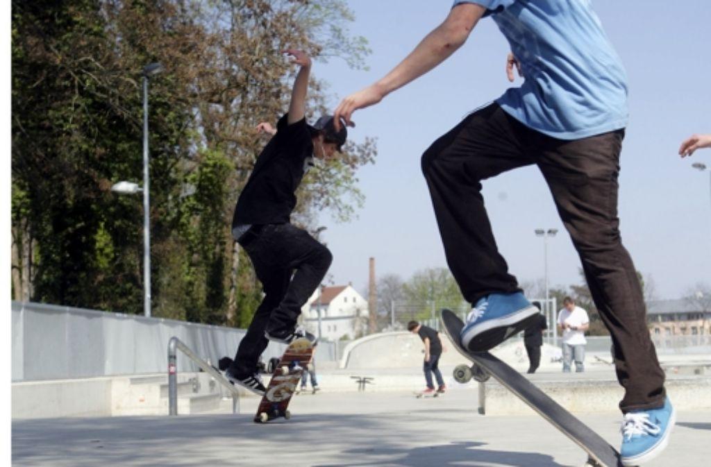 Streitthema: Die Skateranlage am Foto: Achim Zweygarth