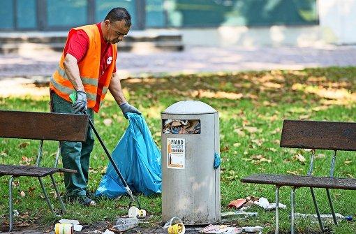 CDU will gegen  den Müll  vorgehen