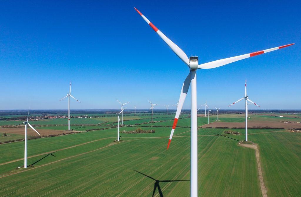 Windkraft im Norden Deutschlands: Diese Energie gilt als volatil. Foto: dpa-Zentralbild