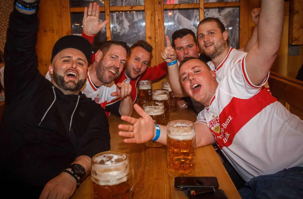 Besonders die VfB-Fans hatten etwas zu feiern. Foto: 7aktuell.de/Daniel Boosz